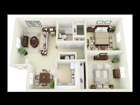 20 Best 2 Bedroom Apartments Design Ideas With Floor Plan 2 Bedroom Apartment Designs