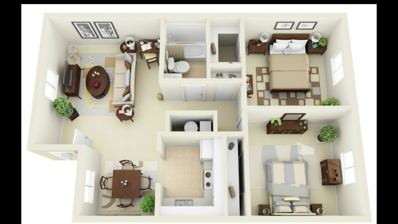 20 Best 2 Bedroom Apartments Design Ideas With Floor Plan 2 Bedroom Apartment Designs Youtube