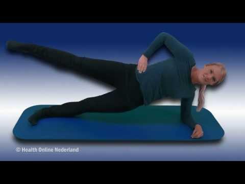 Zijwaartse plank met beenhef