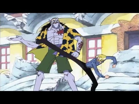 Arlong defeated Sanji in a second!
