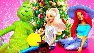 Барби и игрушки готовятся к Новому году Гринч снова украл рождество Видео для детей