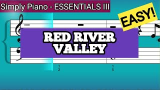Simply Piano| Red River Valley |Essentials III |Piano Tutorial