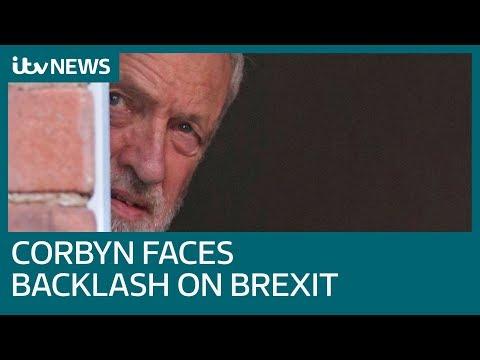 Jeremy Corbyn faces backlash over second Brexit referendum plan | ITV News