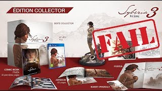 FAIL Unboxing PS4 - Syberia 3 Collector's Edition  ,Broken Figure (GREEK)