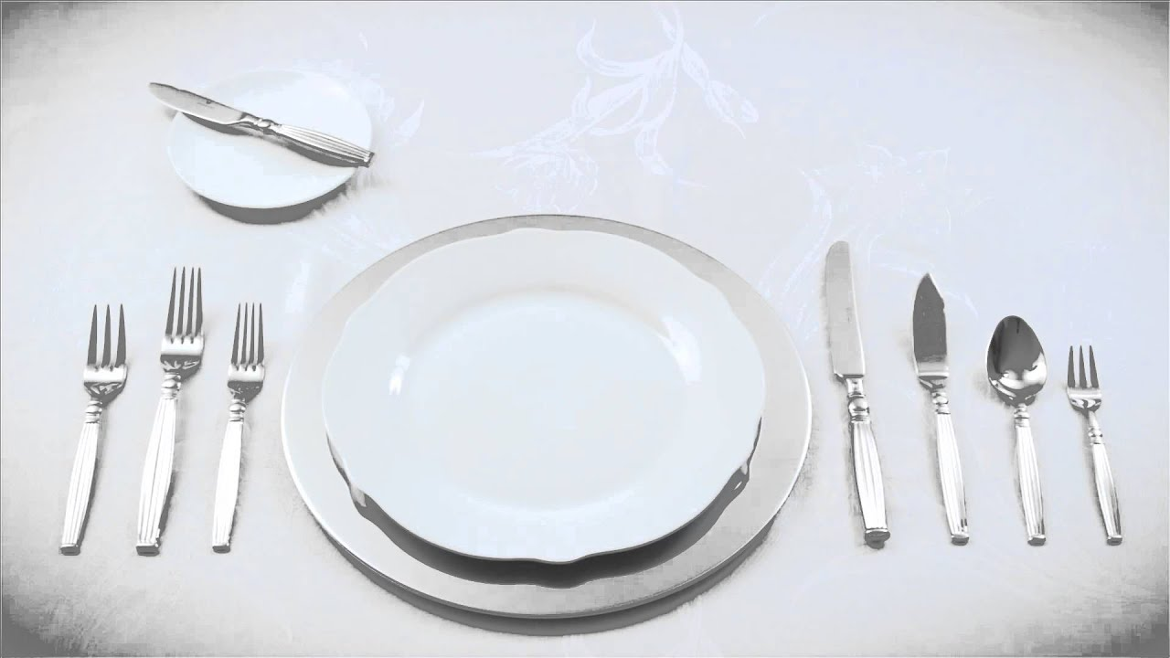 How to create a formal table setting youtube for How do i set a table