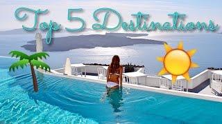 Meine TOP 5 REISEZIELE 🌏 | Hawaii 🌺, Malediven, NYC 🗽, Barcelona 🇪🇸, Kapstadt 🗻 & Santorini ☀️