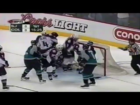 Teemu Selanne miss 2002 Playoffs Game 7 vs Colorado Avalanche