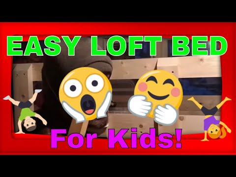 SIMPLE DIY LOFT BED For Kids - Using 2x4 Lumber