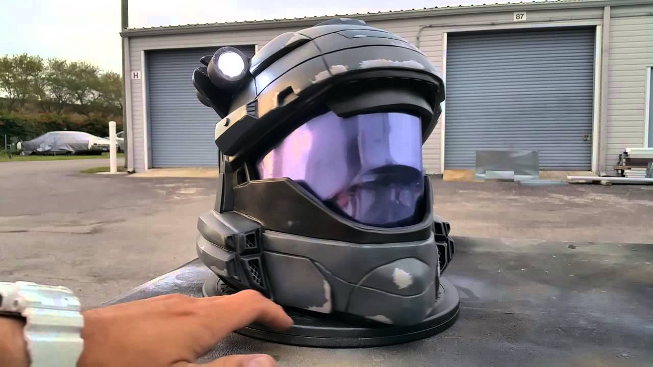 Custom Halo Odst Helmet With Tactical Light Youtube
