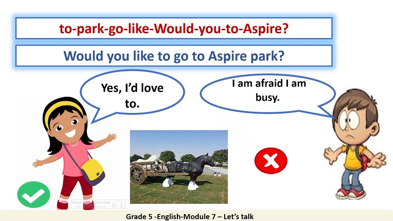 Grade 5 English Module 7 Let's talk