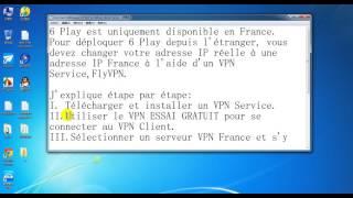Comment débloquer 6Play en dehors de la France?