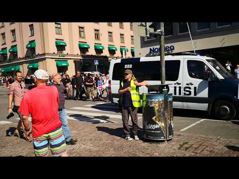 Neo-Nazi rally in Turku - 18.08.2018