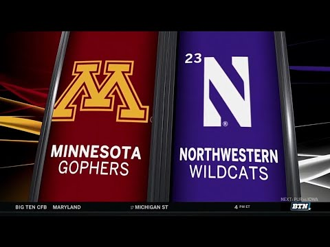 Minnesota at Northwestern - Football Highlights
