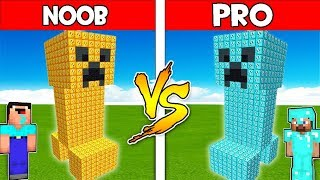 Minecraft NOOB vs PRO : LUCKY BLOCK CREEPER STATUE BUILD CHALLENGE! Animation