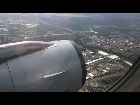 Trip Report│American Airlines│DFW-SBA │Airbus A319 │Seat 11A Engine View Experience