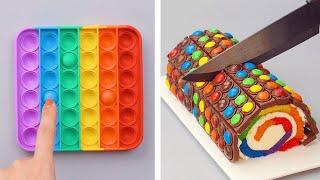 POP IT TO THE BEST SATISFYING DIY CAKE  Fidget Toys Cake Decorating Recipes  So Yummy Cake