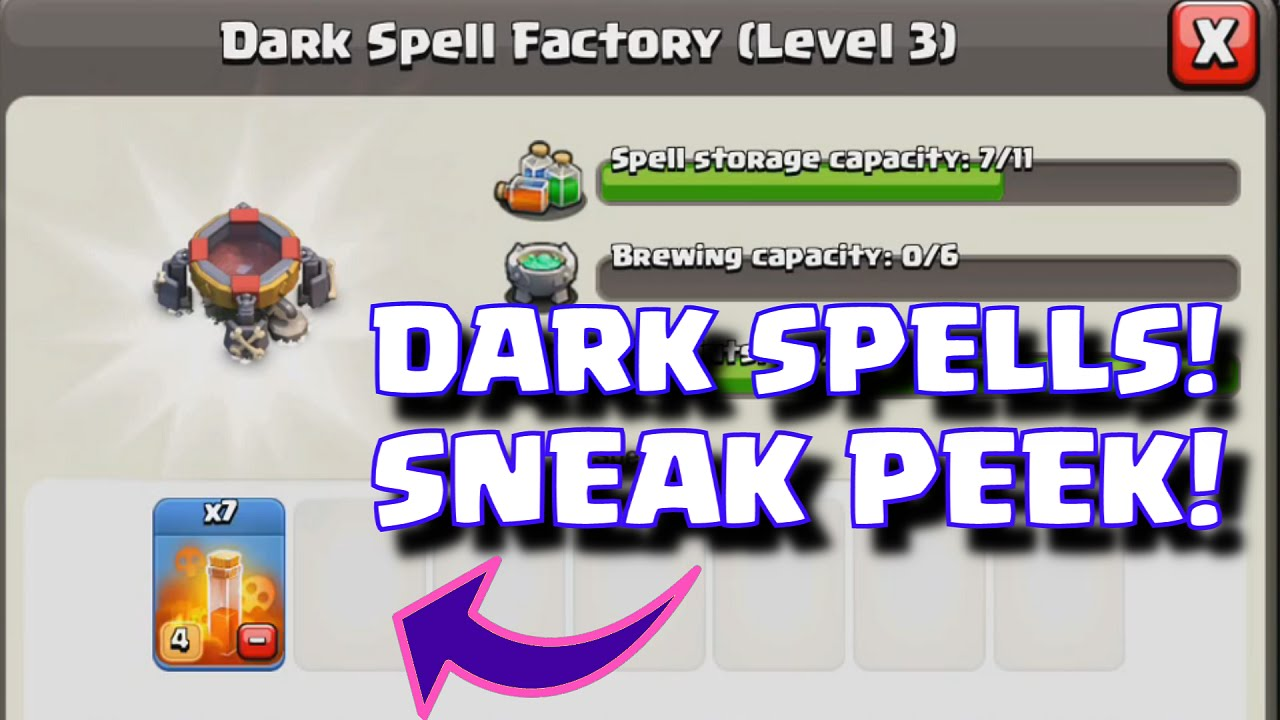 clash of clans spell factory - photo #29