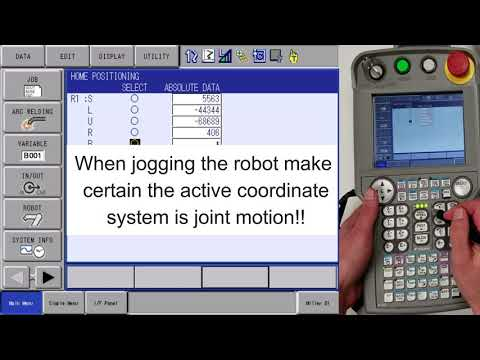 DX200 - How to set home position on a single axis