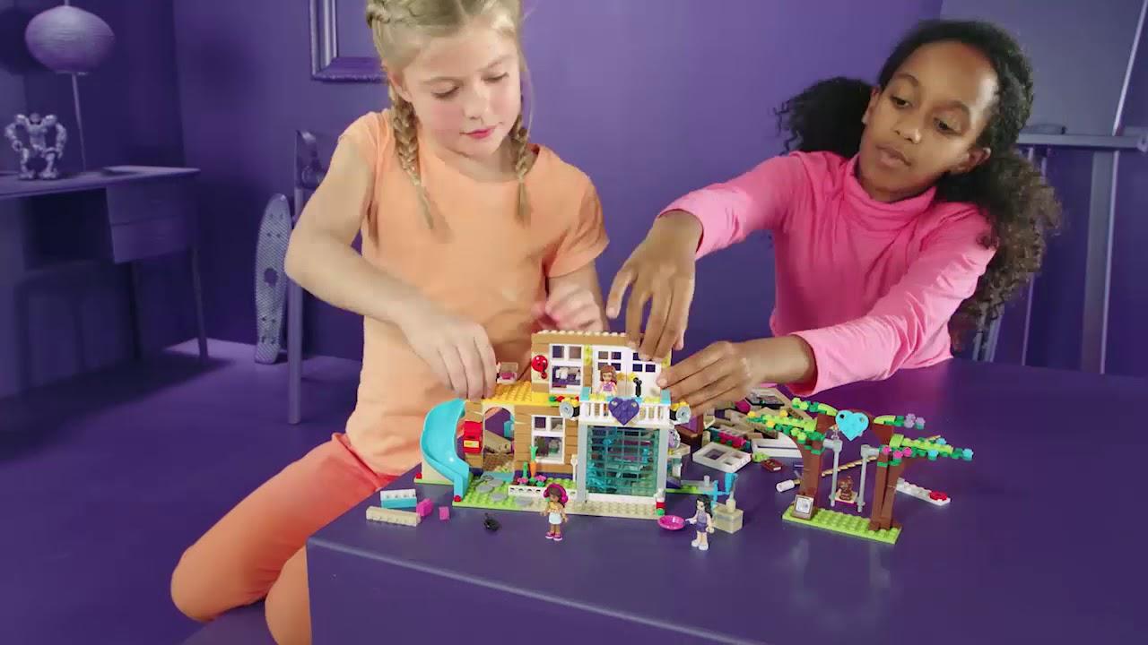 lego friends la maison de l 39 amiti youtube. Black Bedroom Furniture Sets. Home Design Ideas