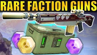 Destiny 2: Get VERY RARE FACTION WEAPONS!