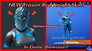 *NEW* Frozen Red Knight Skin! *Before You Buy* (In-Game Showcase) | Fortnite Battle Royale