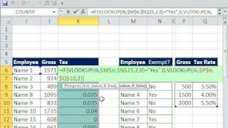 Excel Magic Trick 588: 2 VLOOKUP Functions looking into 2 Different Tables