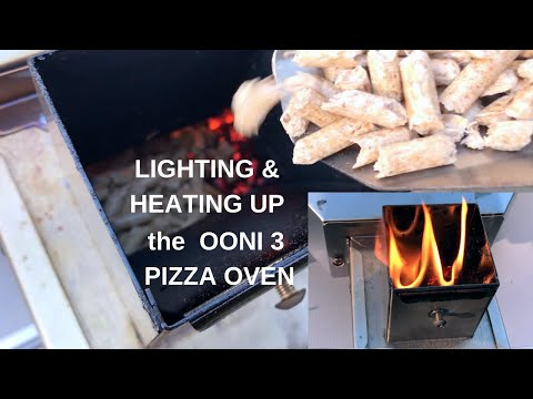 Wood Pellet Lighting & Heating  Ooni 3 Pizza Oven
