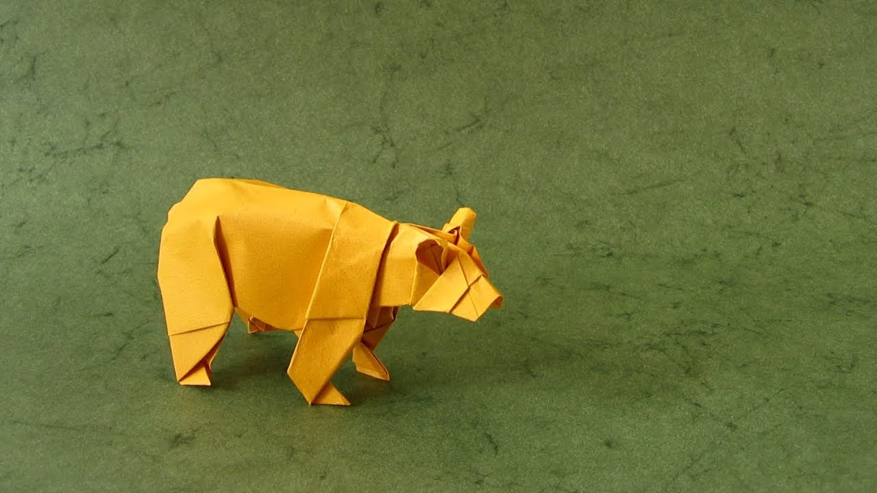 Origami Instructions Bear Stephen Weiss Youtube