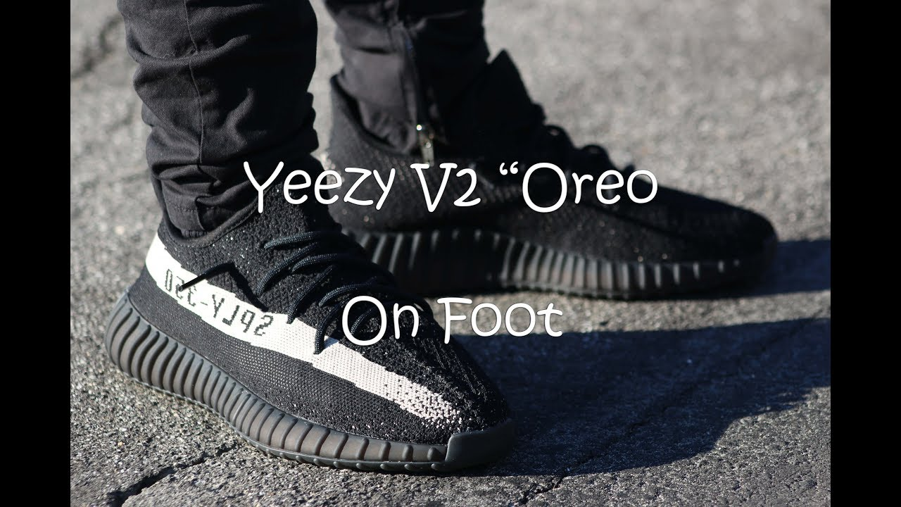 yeezy oreo on feet Yeezy V2 Oreo On Foot