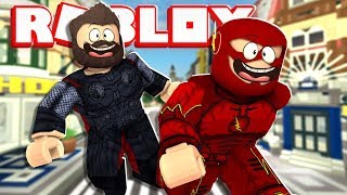 4 Player Super Hero Tycoon In Roblox | JeromeASF Roblox