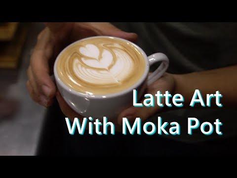 Latte Art Practice With Moka Pot Coffee 2018.11.18