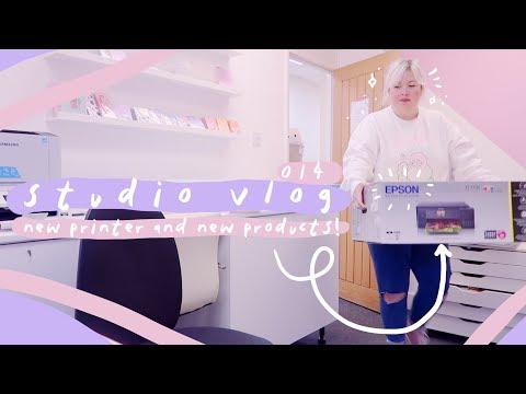 STUDIO VLOG 014: NEW YEAR - NEW PRINTER - NEW PRODUCTS