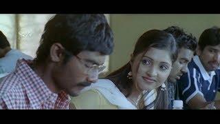 Lecturer scold Yogesh for sleeping in Class Room   Sanchitha   Ravana Kannada Movie Best Scenes