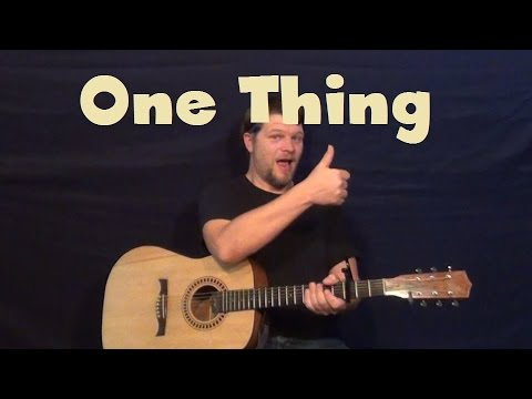 One Thing (One Direction) Easy Strum Guitar Lesson Chords How to Play Tutorial