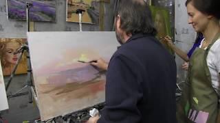 Игорь Сахаров, работа с фотоматериалом, живопись маслом для начинающих 1