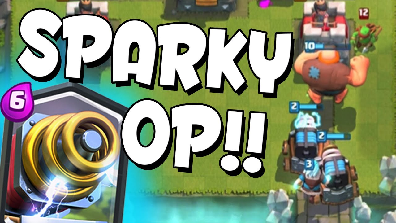 clash royale amazing sparky deck sparky strong high