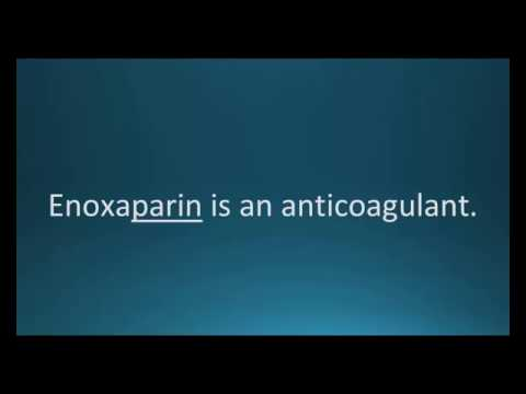 How to pronounce enoxaparin (Lovenox) (Memorizing Pharmacology Flashcard)