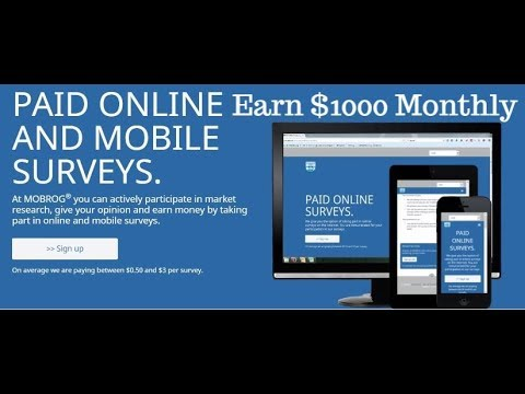 Earn $1000 every Month | Mobrog Online Survey | Work From Home