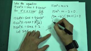 SPM - Form 5 - Add Maths - Trigonometry Function (Short Questions)