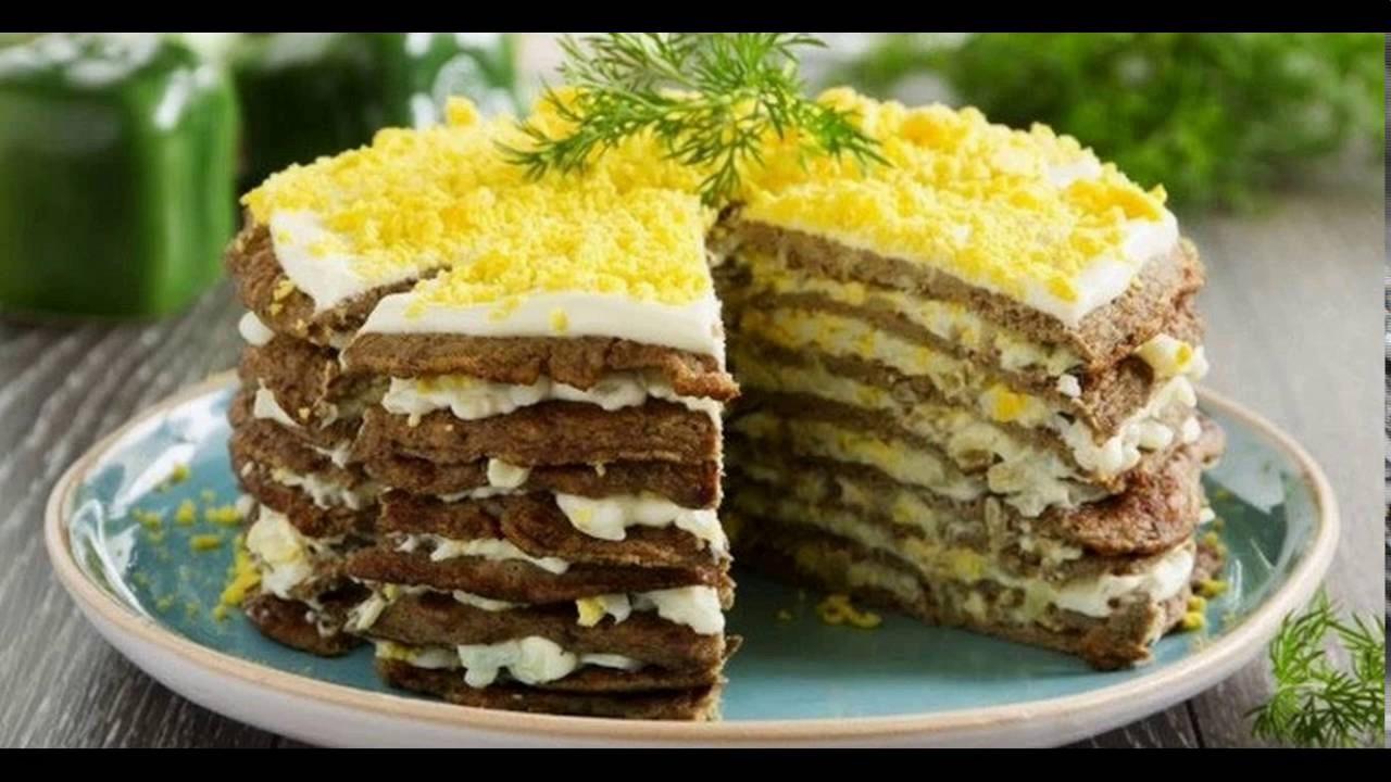 Как сделать печёночный торт видео фото 487