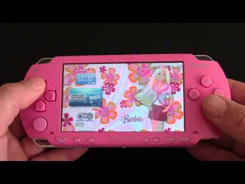 Custom Sony PSP 1000 Pink Barbie Themed PlayStation Portable (MINT)