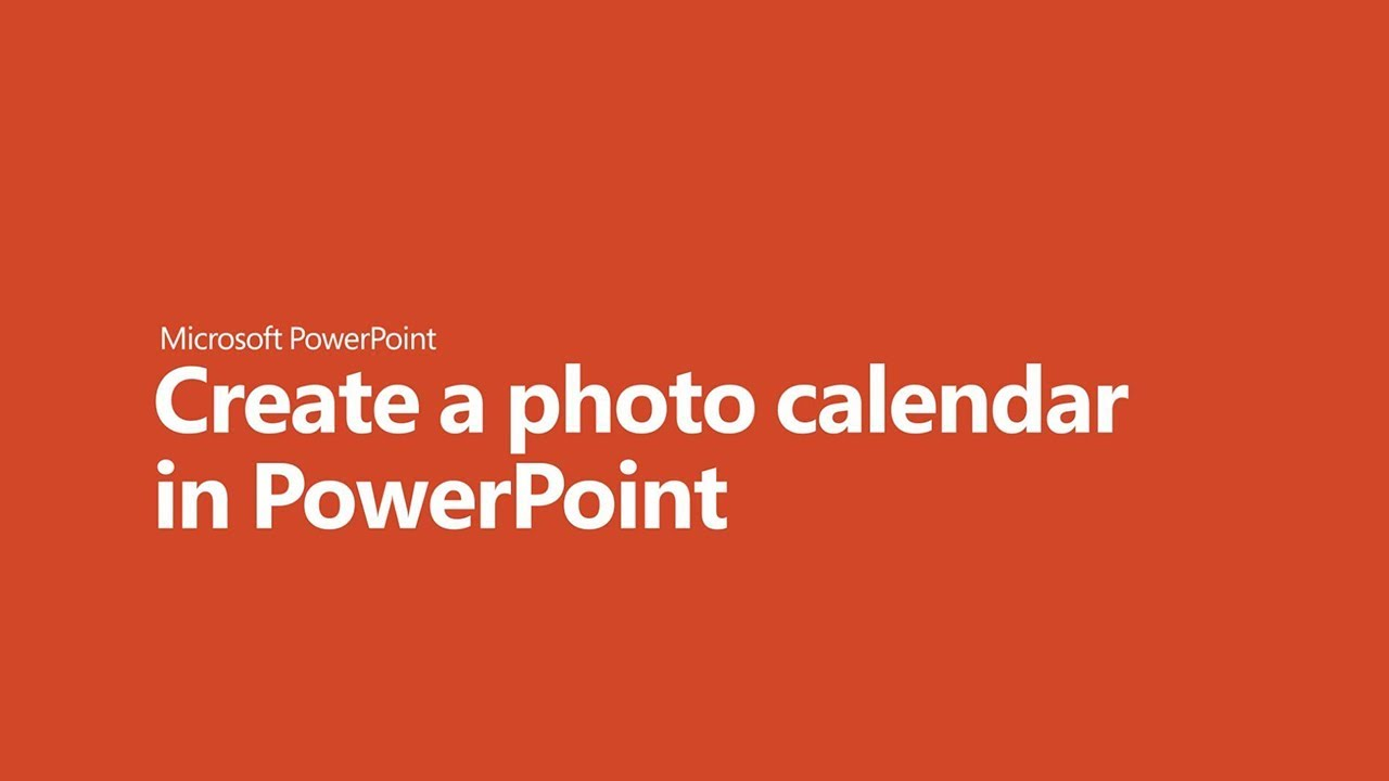 How to create a photo calendar in PowerPoint