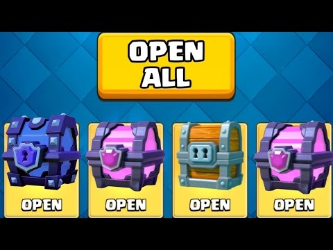 SUPER MAGICAL CHEST OPENING AND MORE :: Clash Royale :: AWESOME CLAN / TEAM BATTLES!