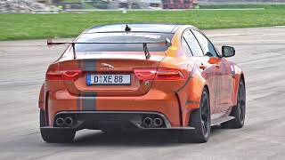 Jaguar XE SV Project 8 (600HP) vs Mercedes-Benz CLK AMG DTM Convertible (582HP)