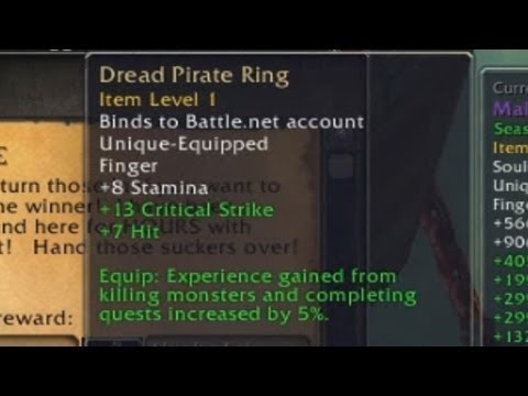 World of Warcraft: How to get a Bind on Account Ring - How to get Dead Pirate's Ring