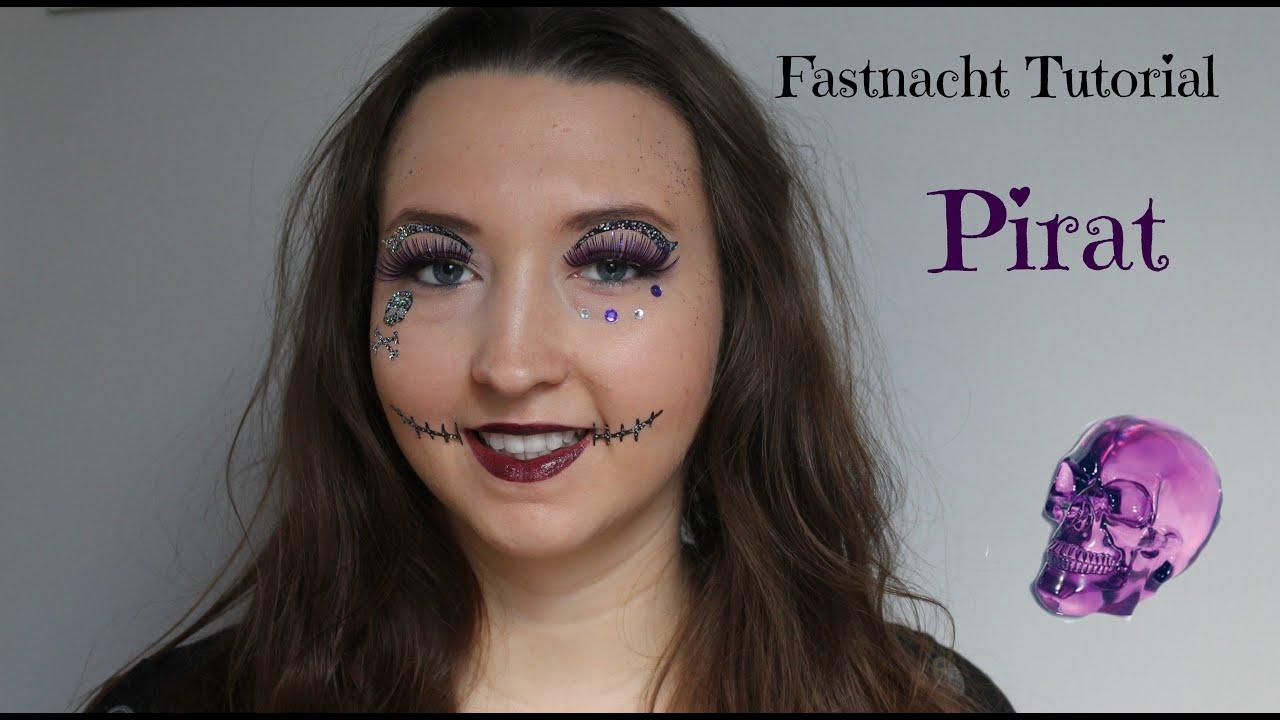 Pirat Makeup Tutorial Fastnacht Fasching Karneval Youtube