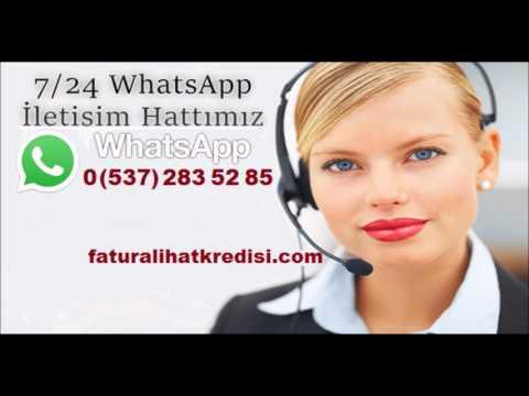 Faturalı Hatlara Anında Nakit Kredi İmkanı Whatsapp İletişim: 0 (537) 283 52 85
