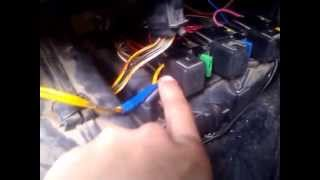 Принудительная кнопка включения вентилятора на ВАЗ 2110