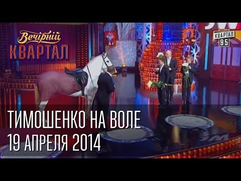 Тимошенко на воле, встречают - Янукович, Кличко, Луценко, Яценюк  Вечерний Квартал 19. 04.  2014