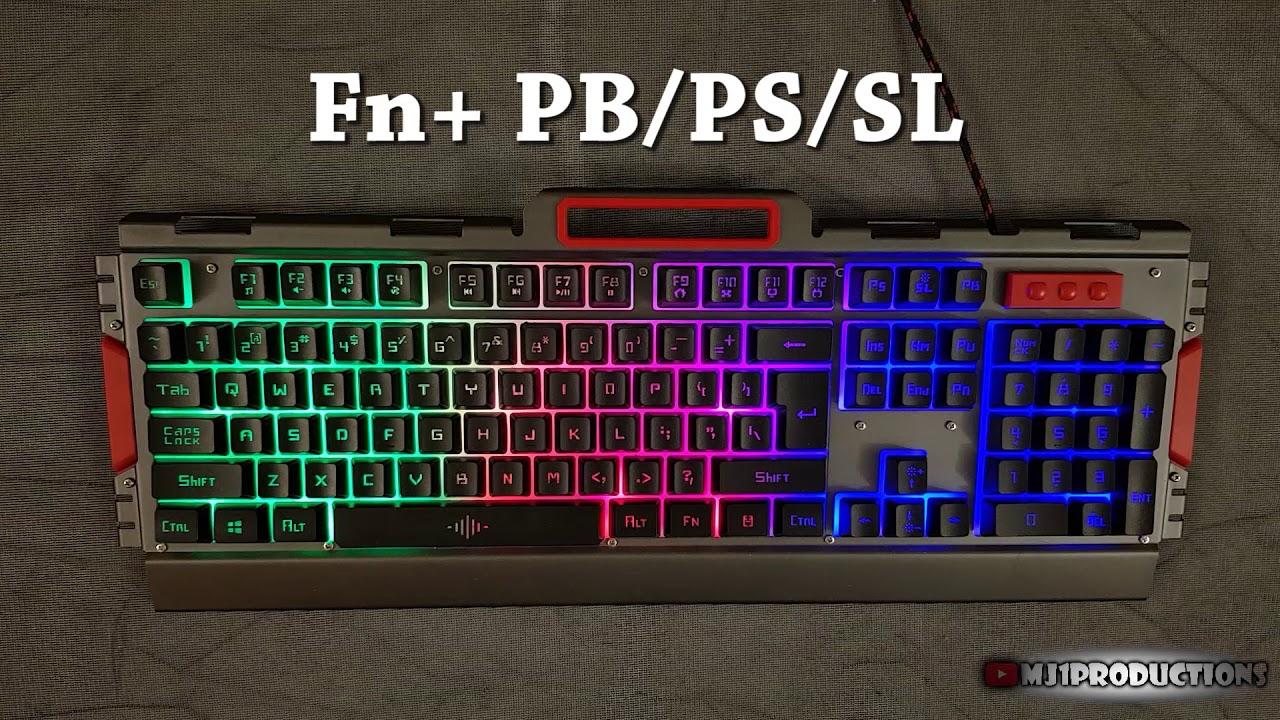The Led Backlit K33 Gaming Keyboard Mouse Youtube